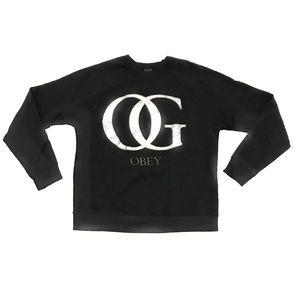 OBEY OG Crewneck Sweatshirt Pullover Small